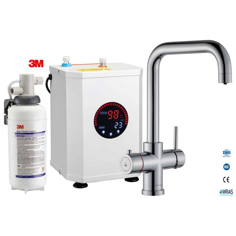 Multi-Tap 3-in-1 Kokend Water Kraan Chroom - Haaks