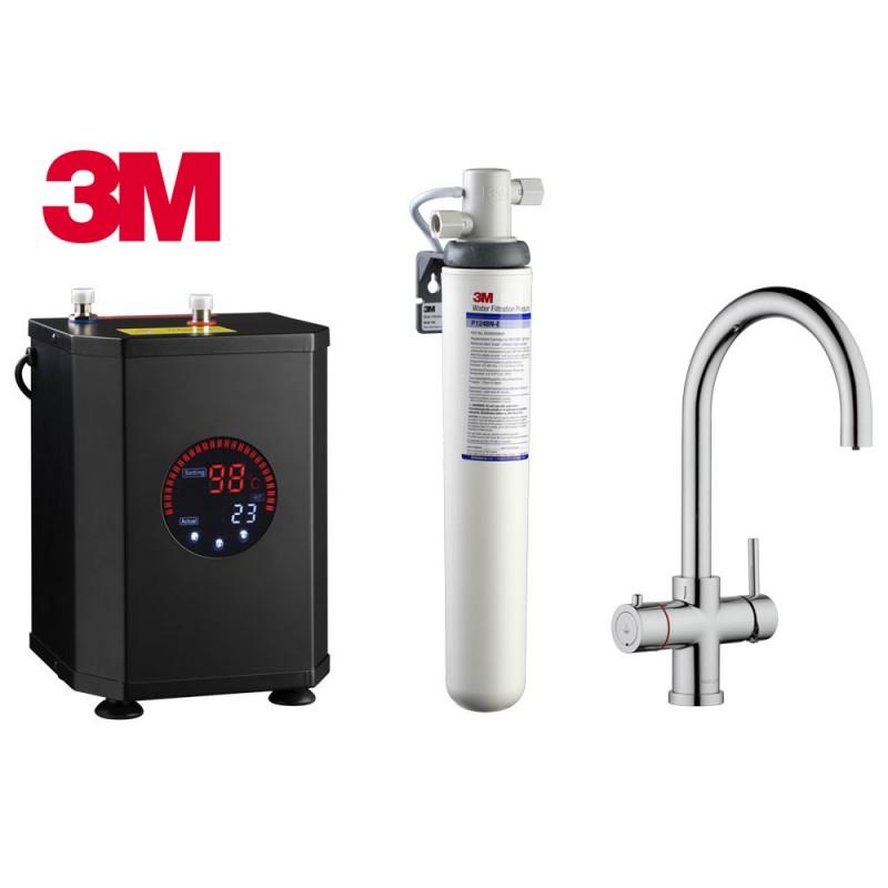 Multi-Tap 3-in-1 Kokend Water Kraan Chroom - Rond